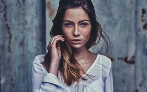 Picture portrait, freckles, sponge, the beauty, Martin Strauss