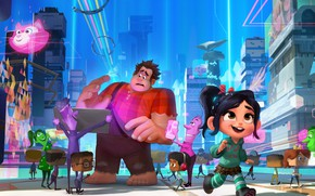 Picture cartoon, Vanellope, Ralph, Ralph Breaks the Internet: Wreck-It Ralph 2, Ralph against the Internet