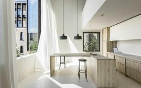 Picture room, interior, kitchen, Cube Apartment