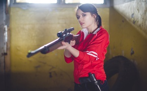 Picture girl, weapons, Apocalypse, the game, zombies, zombie, game, rifle, Zoey, cosplay, cosplay, left 4 dead, …