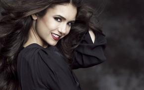 Picture smile, actress, Nina Dobrev