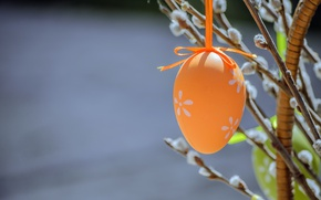 Wallpaper branches, holiday, egg, Easter, Verba