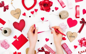 Wallpaper love, romance, hearts, red, love, romantic, hearts, Valentine's Day, gift, decoration