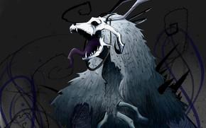 Picture skull, horns, Mahou Tsukai no Yome, The Ancient Magus' Bride, Bride of the sorcerer, Elias …