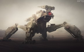Picture machine, weapons, Military mech concept