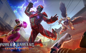 Picture game, hero, suit, Power Rangers, yuusha, Power Rangers: Legacy Wars