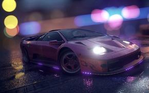 Picture Lamborghini, NFS, Purple, Neon, Diablo, Tuning, Need For Speed, 2015, LED