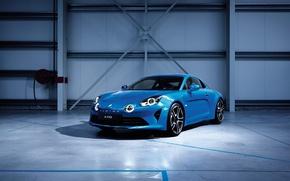 Picture light, blue, garage, Renault, car, Alpine, Edition, Premiere, A110