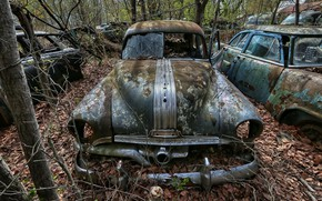 Picture machine, background, scrap, 1951 Pontiac Chieftain