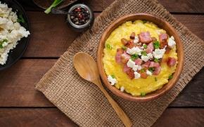Picture porridge, Hominy, greaves