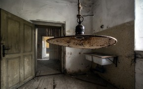 Wallpaper room, lamp, naturalism