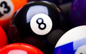Wallpaper sport, black, balls, eight, colour, snooker, Billiards, colour balls