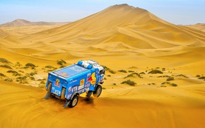 Picture The sky, Sand, Nature, Sport, Speed, Truck, Race, Master, Beauty, Russia, Beast, 300, Kamaz, Rally, ...