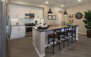 Picture design, furniture, lamp, chairs, interior, kitchen