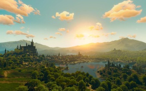 Picture sunset, The witcher, blood and wine