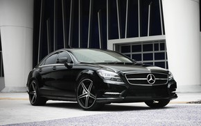 Picture lights, Mercedes, wheels, with, CLS550, lowered, smoked, K3 Project