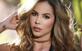 Wallpaper hair, model, beauty, face, Juliana Herrera, look