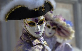 Picture hat, mask, carnival