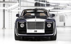 Picture car, Rolls Royce, black, Rolls Royce Sweptail