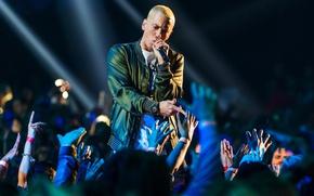 Picture Eminem, hip hop, fans, concert