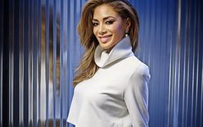 Wallpaper singer, Nicole Scherzinger, smile, pose