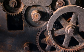 Picture background, mechanism, rust