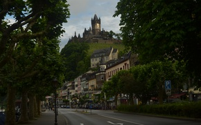 Picture Home, Road, The city, Germany, Castle, Street, Building, Germany, Street, Castle, Town