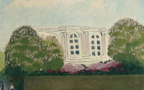 Picture oil, canvas, Kees van Dongen, romantic Fauvism, The pink Palace