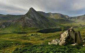 Wallpaper Snowdonia, mountains, rocks, Wales, stones