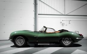 Wallpaper green, strip, XKSS, background, Jaguar, light