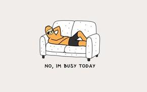 Picture sofa, mood, humor, sloth, laziness