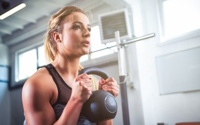 Picture blonde, workout, fitness
