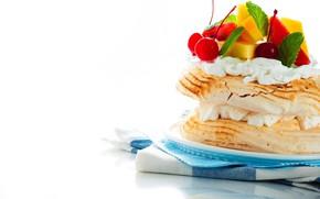 Wallpaper dessert, cakes, cream, sweet, berries