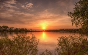 Wallpaper beauty, sunset, landscape, nature