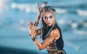 Picture decoration, dance, Asian