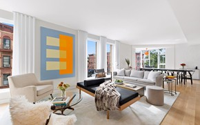 Picture interior, New York, living room, dining room, NY, 505 2nd Street Apartment