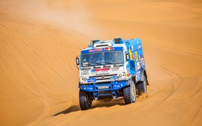 Picture The sky, Sand, Nature, Sport, Speed, Race, Master, Beauty, Russia, 307, Kamaz, Rally, Rally, KAMAZ, …