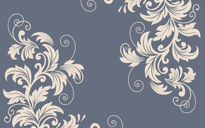 Picture leaves, flowers, background, vector graphics