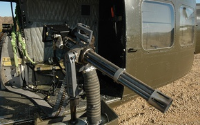 Picture gun, weapon, helicopter, machine gun, minigun, heavy weapon, M134 Minigun, M134, M124 Minigun