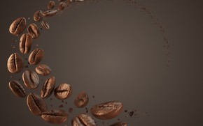 Picture rendering, background, coffee, grain