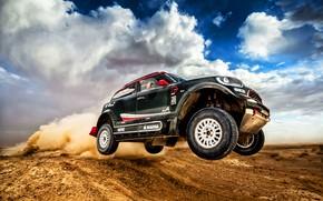 Picture Sand, Mini, Dust, Sport, Desert, Speed, Rally, SUV, Rally, X-Raid Team, MINI Cooper, X-Raid, X …