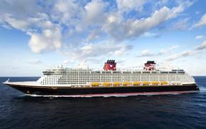 Picture Passenger, The sky, Board, Passenger liner, Disney Dream, The ship, The ocean, Dream, Disney Cruise …