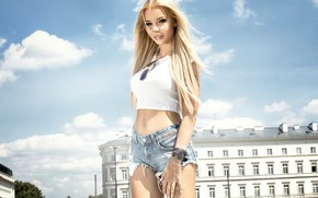 Picture the sky, the sun, clouds, the city, sexy, shorts, home, makeup, Mike, figure, piercing, glasses, …