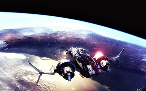 Wallpaper space, ship, fanart, sci fi, star conflict