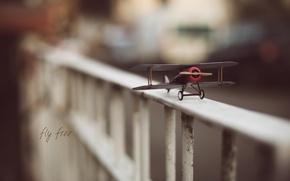 Picture bridge, railings, the plane