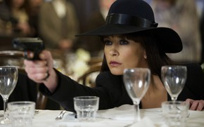 Picture gun, the film, frame, hat, actress, Catherine Zeta-Jones, Catherine Zeta-Jones