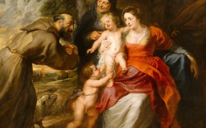 Picture picture, religion, Peter Paul Rubens, mythology, Holy Family, Pieter Paul Rubens