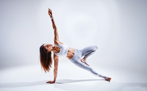 Wallpaper pose, female, yoga, technique, Coordination