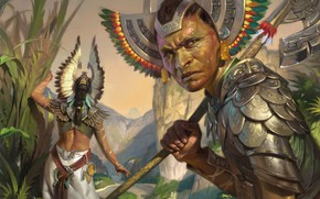 Picture the natives, Magic The Gathering, intelligence, Ixalan, Emperors Vanguard