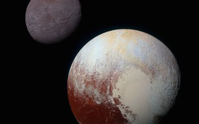 Picture Pluto, background, New Horizons, satellite Charon